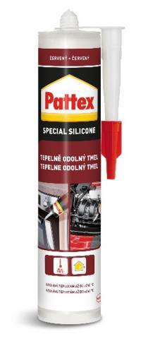PATTEX Tepelně odolný tmel 280ml – červený