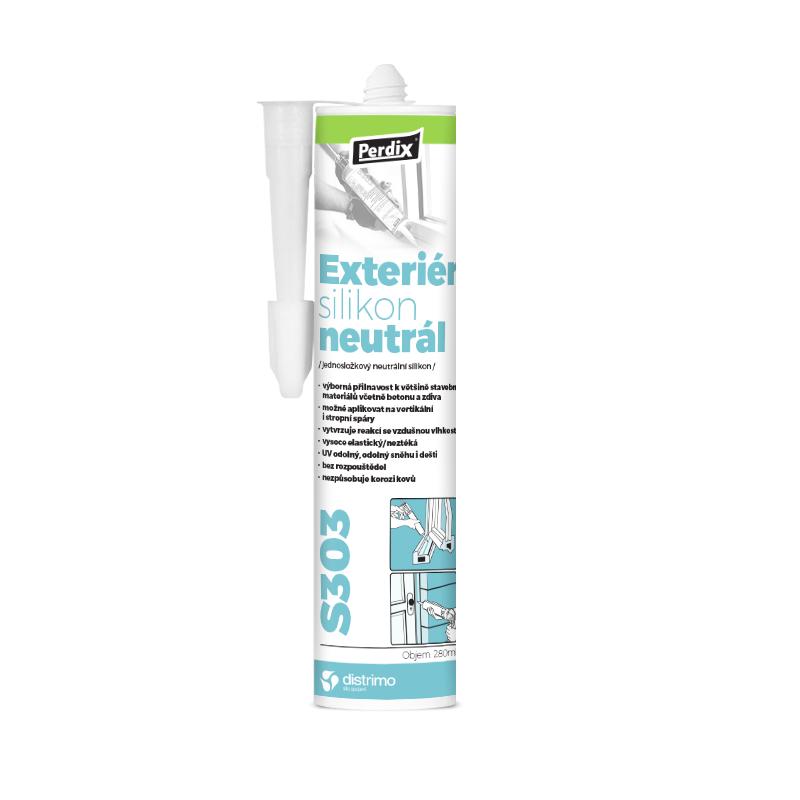 Perdix – Exteriér silikon neutrál S303 šedá 280ml