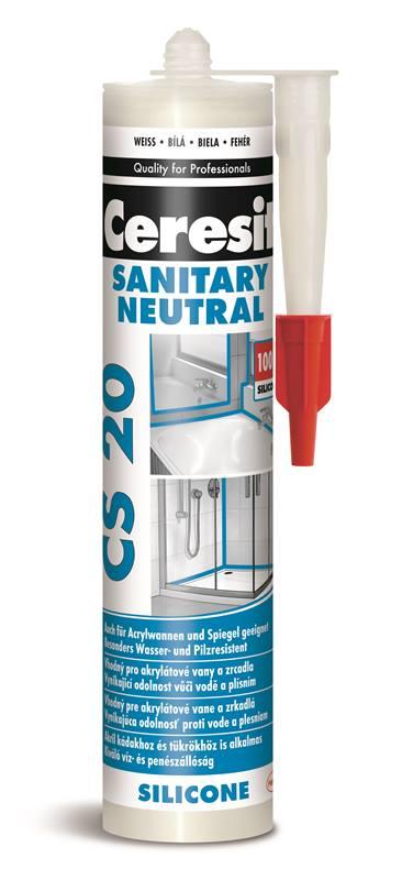 CERESIT CS20 Neutralní / sanitární silikon 280ml
