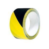 Perdix – Výstr.lep.páska PP 48mmx66m-žl/černá,levá
