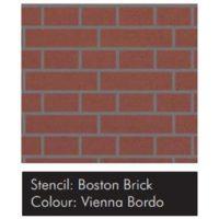 Samolepící šablona VISAGE – Boston Brick 15ks
