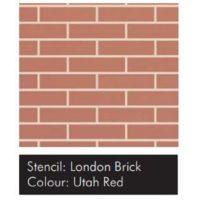Samolepící šablona VISAGE – London Brick 15ks