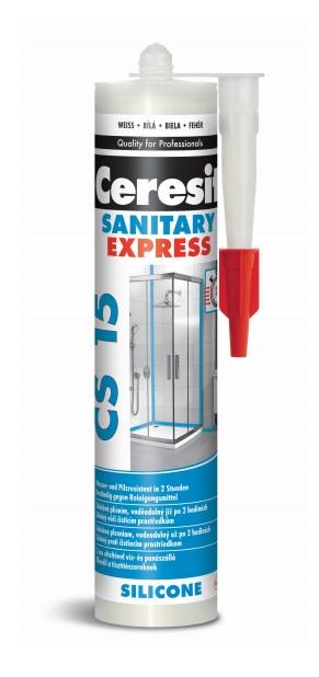 CERESIT CS15 EXPRESNÍ sanitární silikon 280ml