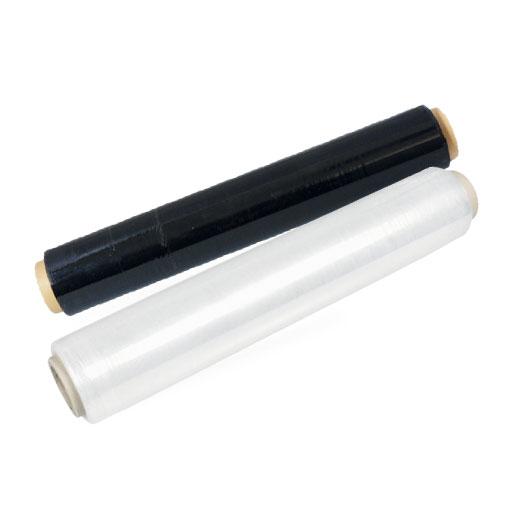 Perdix -Strečová fólie ruční 50cm černá 23my,250m