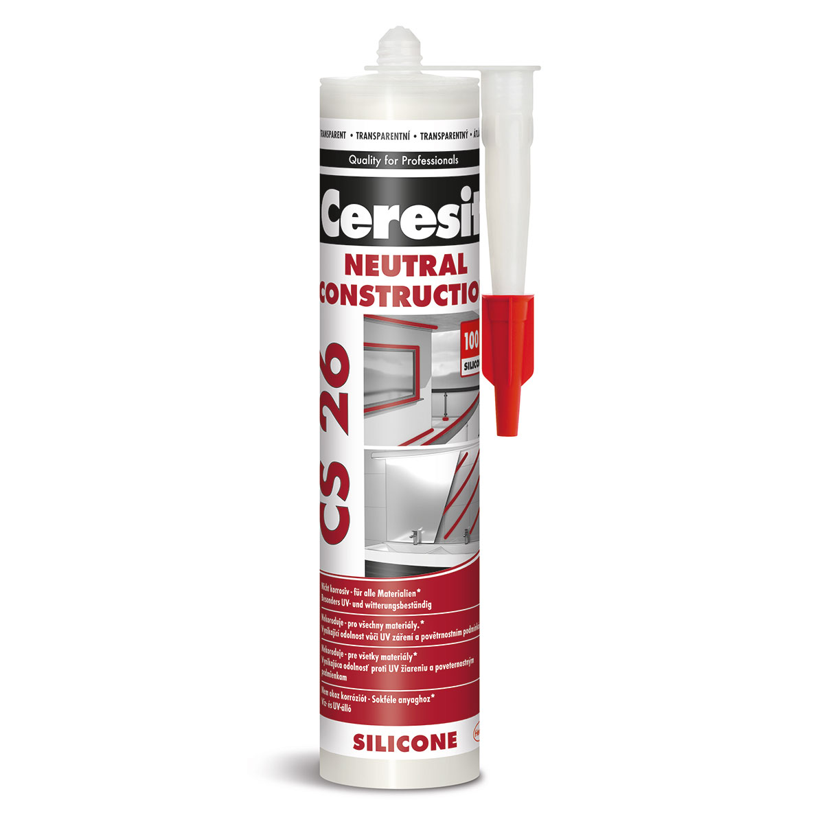 CERESIT CS26 neutrální silikon transparent 300ml