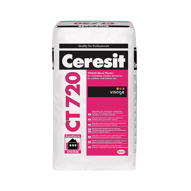 CERESIT CT720 VISAGE WOOD plaster 25kg