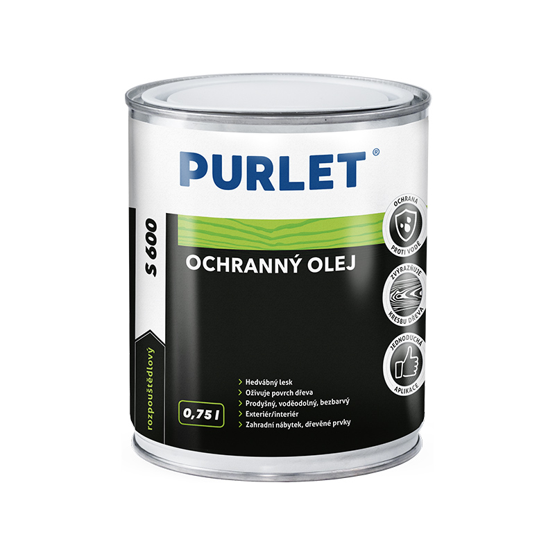 PURLET S600 ochranný olej na dřevo 750ml